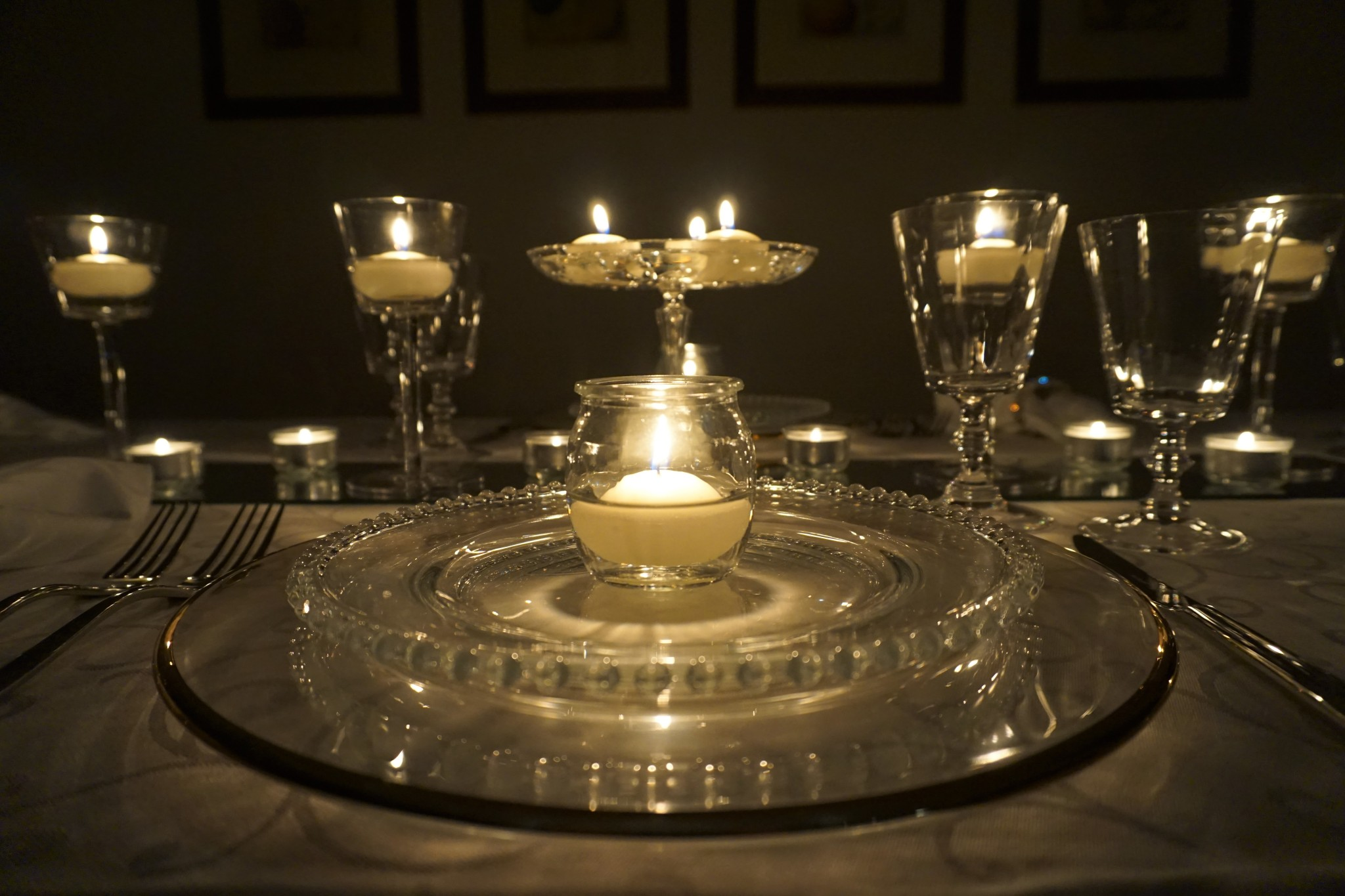 Arte della tavola. Il dono della luce - A casa di Bianca