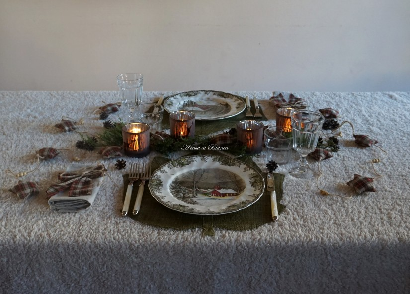 a casa di Bianca, tavola country, country chic, country tablescape, vintage, Johnson Brothers Friendly Village