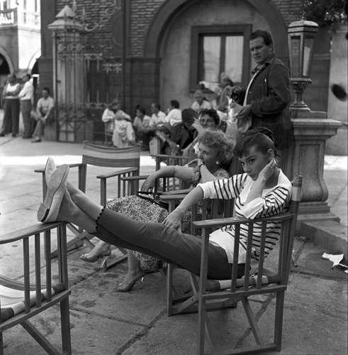 Audrey Hepburn in versione sportiva