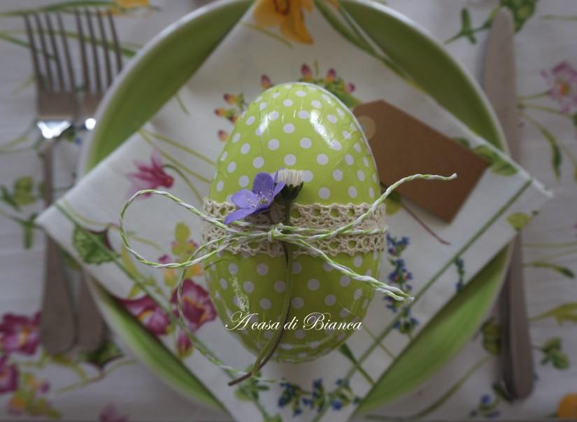 Segnaposto uovo di Pasqua verde