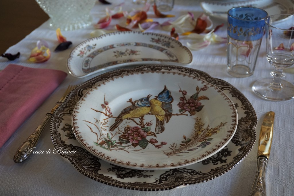 tavola vintage piatti keller et guerin