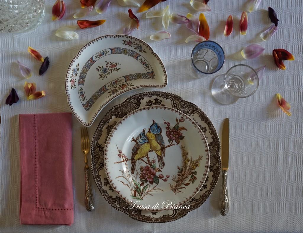 tavola vintage piatti francesi