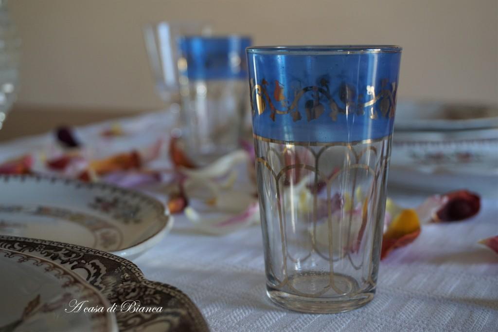 bicchieri marocchini blu vintage