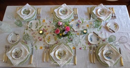Spring tablescape a casa di Bianca