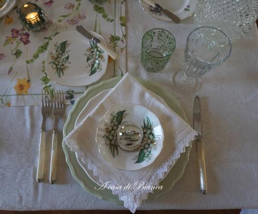 Spring tablescape a casa di Bianca mughetti