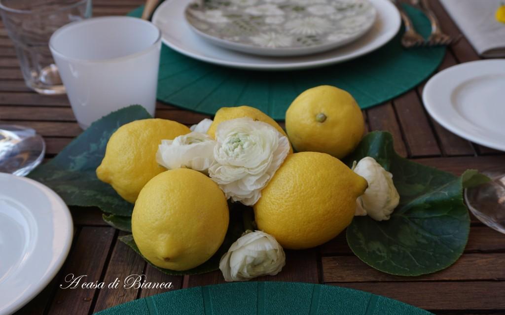 Centrotavola limoni a casa di Bianca