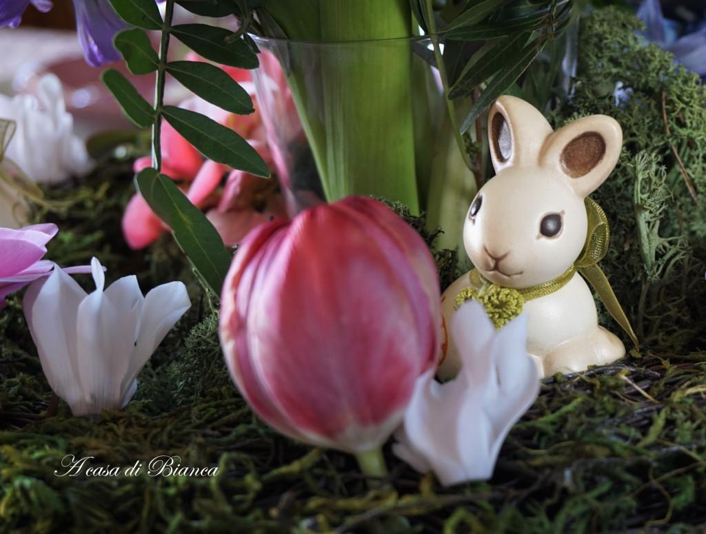 Coniglietto pasquale Thun a casa di Bianca