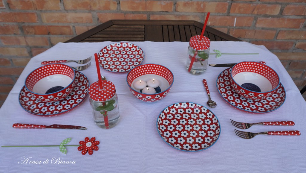 Alfresco dining Christopher Vine Cotton Bud a casa di Bianca