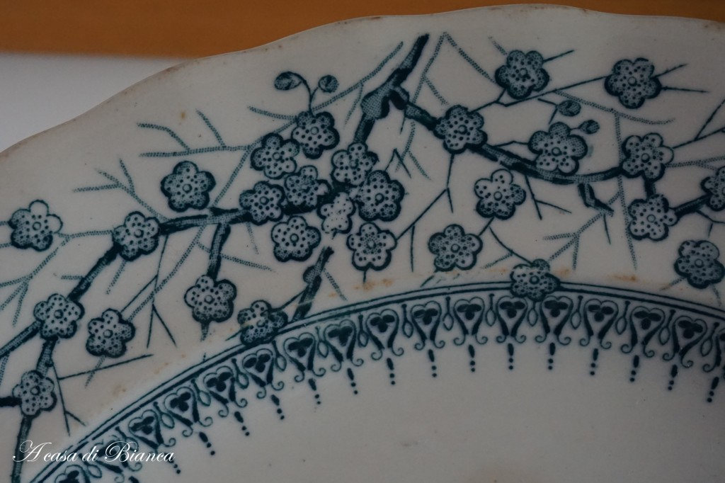 English transferware teal a casa di Bianca