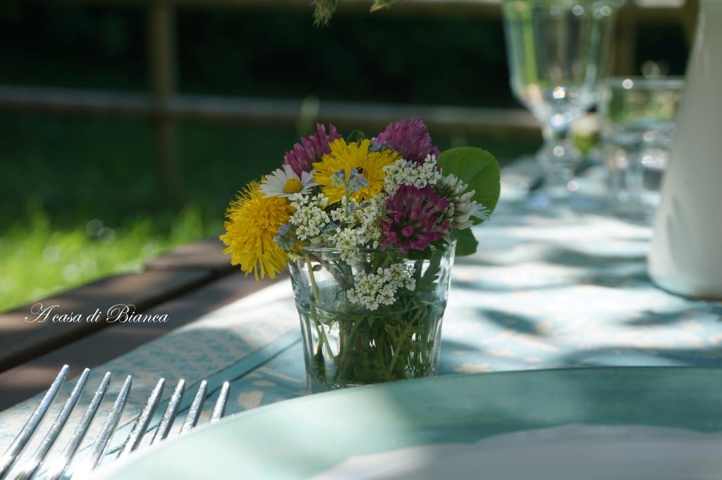 Segnaposto fiori di campo a casa di Bianca