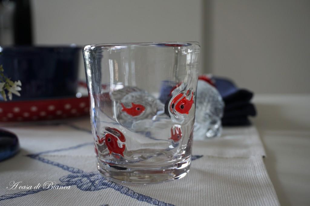 Bicchieri decoro marino Maison du Monde a casa di Bianca