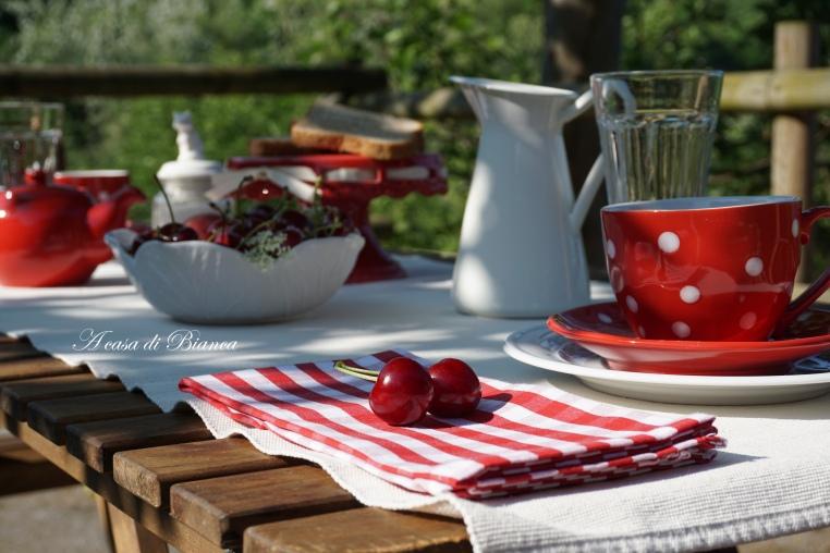 Ciliegie a colazione di inizio estate a casa di Bianca
