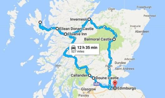 Scozia_Itinerario