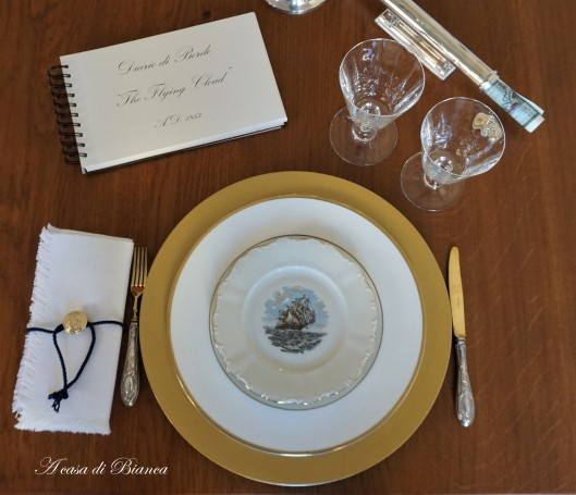 Romantic nautical tablescape a casa di Bianca
