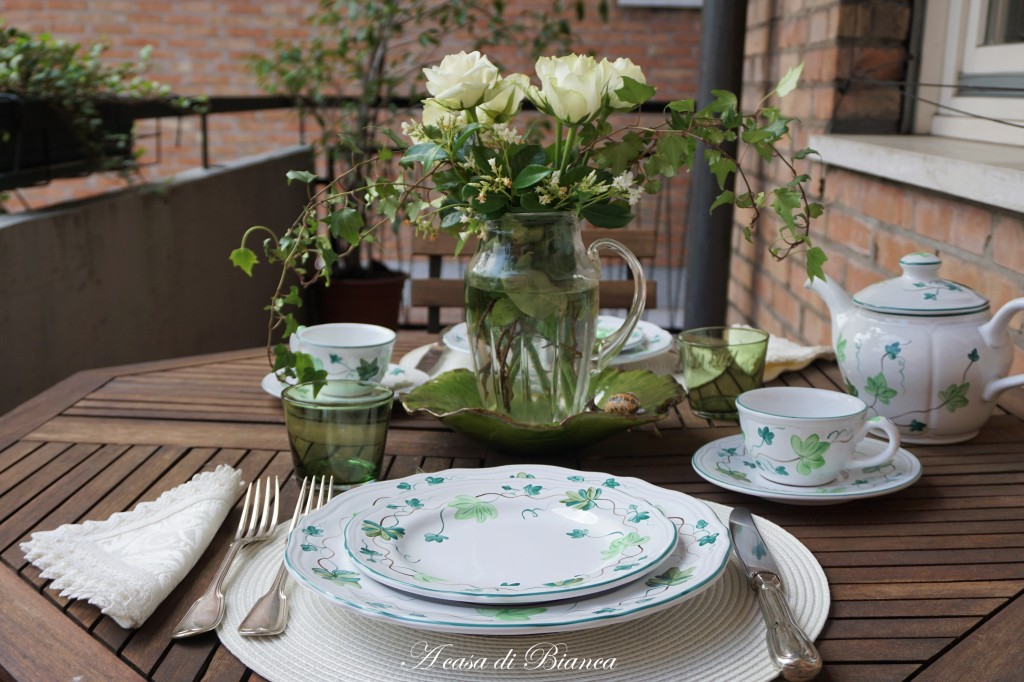 Brunch con piatti Herend Village Pottery a casa di Bianca