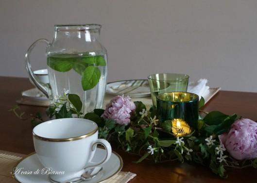 Tavola da tè in stile orientale