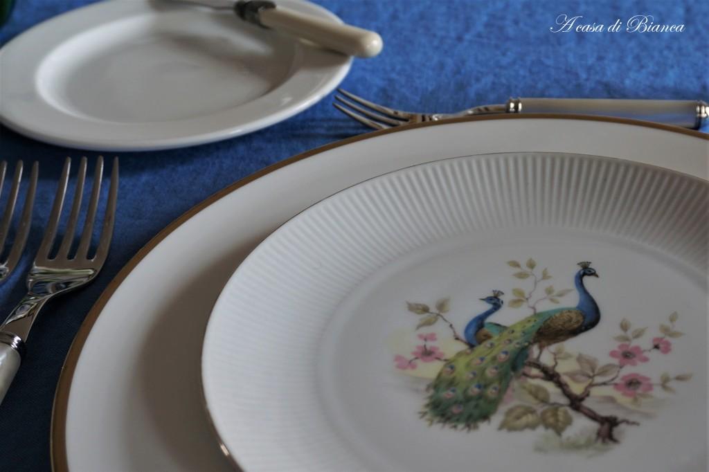 Piatto con pavoni Seltmann Weiden a casa di Bianca