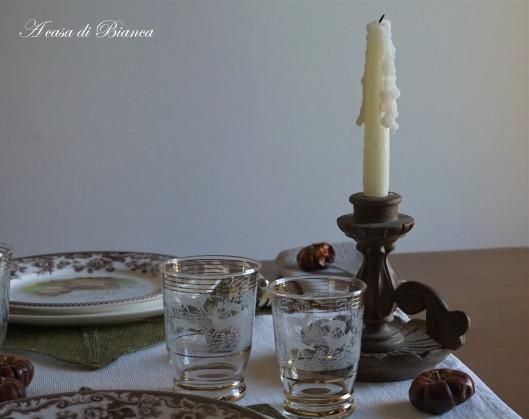 Candeliere in legno a casa di Bianca
