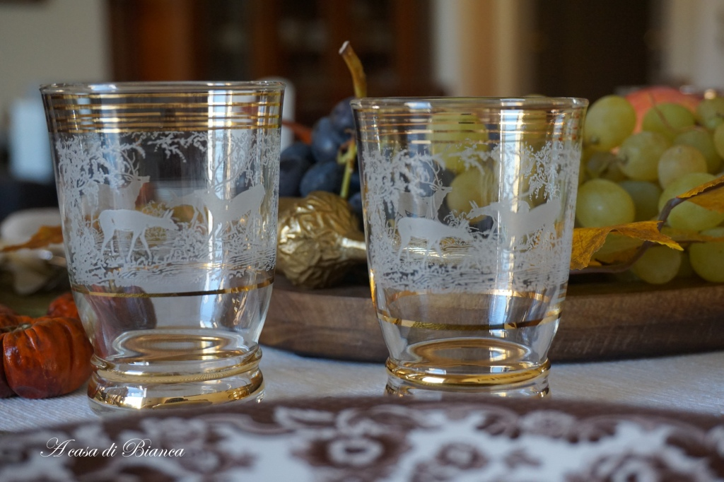 Bicchieri vintage a casa di Bianca