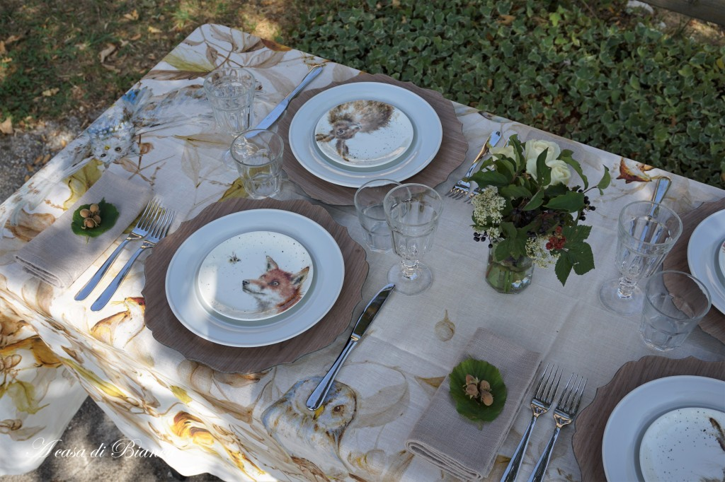 Fall tablescape a casa di Bianca