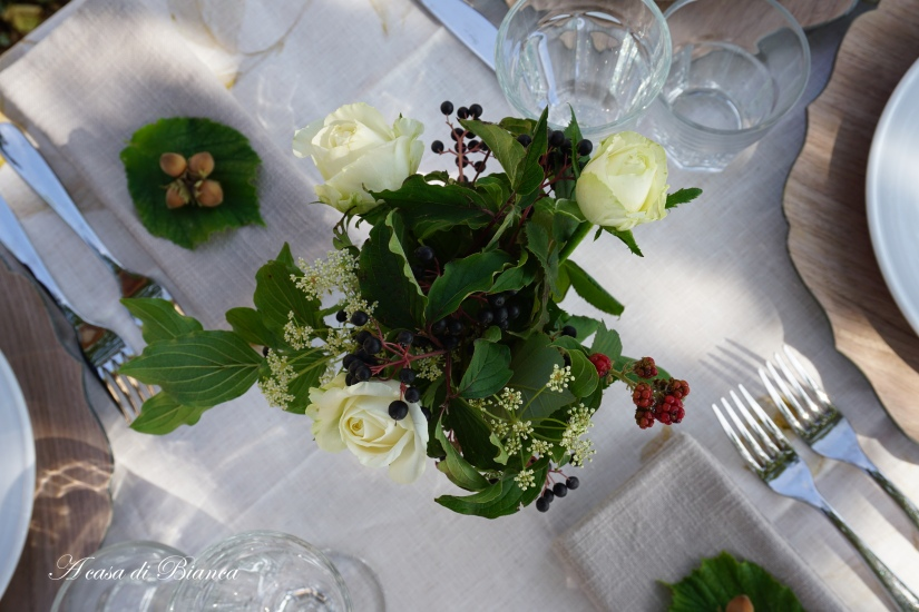 Romantic fall centerpiece