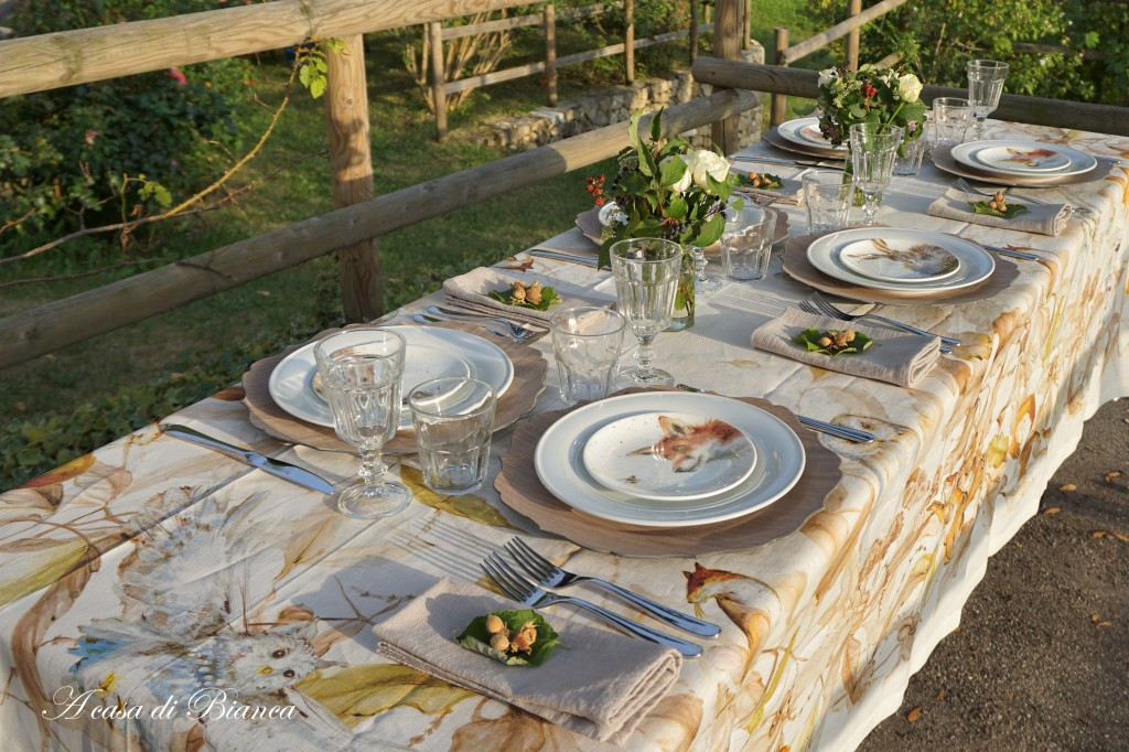 Fall tablescape woodland themed a casa di Bianca