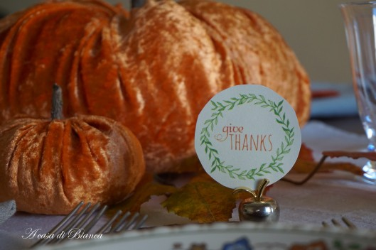 Thanksgiving tablescape a casa di Bianca