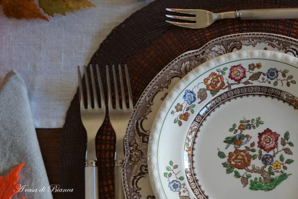 Thanksgiving tablescape a casa di Bianca
