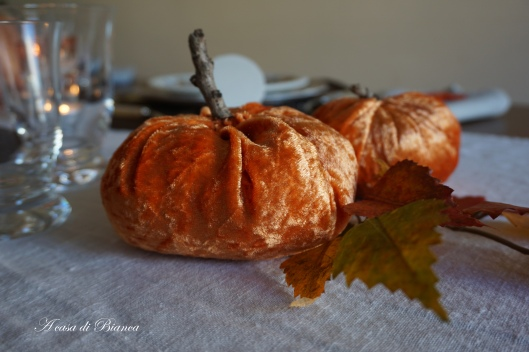 Velvet pumpkins a casa di Bianca