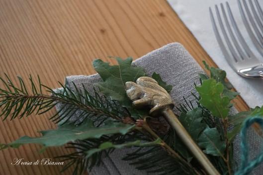 Segnaposto invernale a tema bosco a casa di Bianca