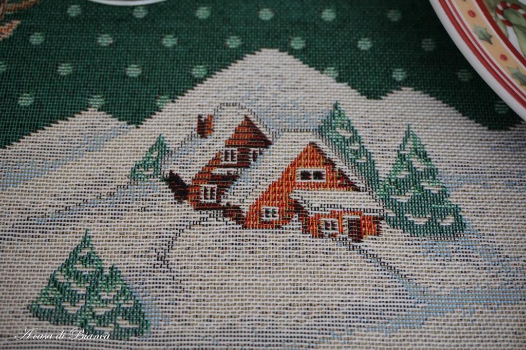 Tovaglia natalizia a casa di Bianca