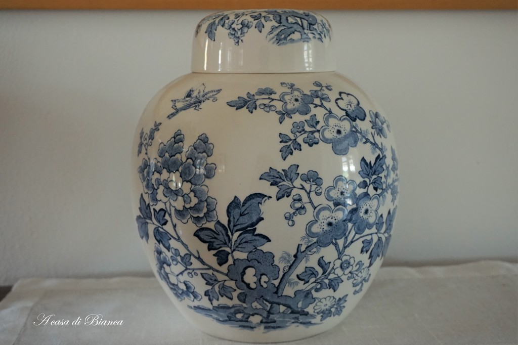 Ginger Jar english transferware a casa di Bianca