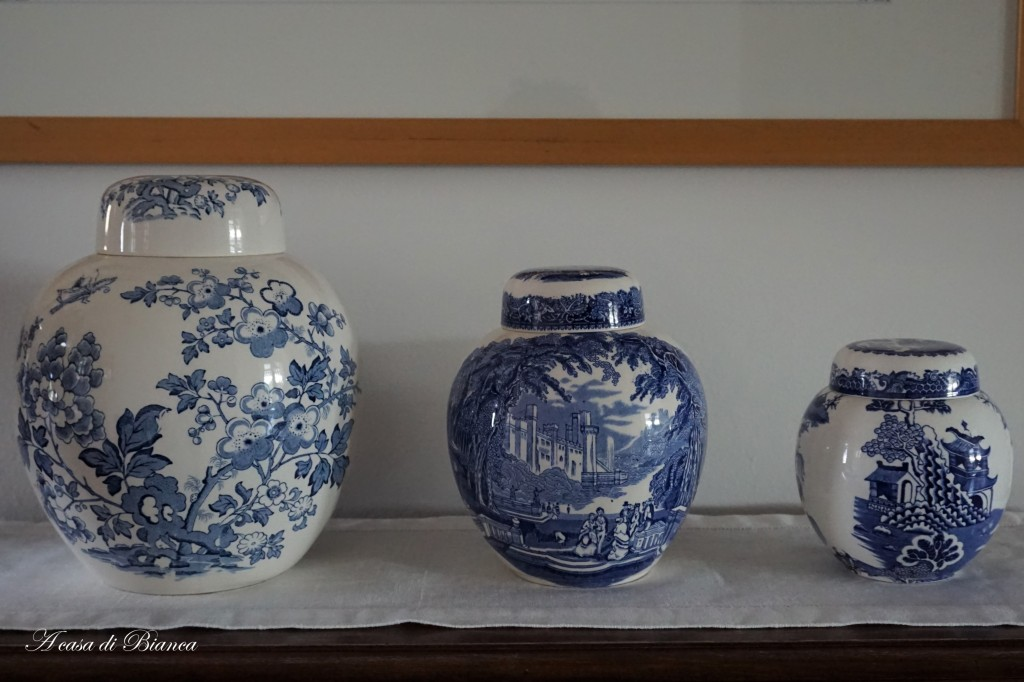 Ginger Jars blue and white a casa di Bianca