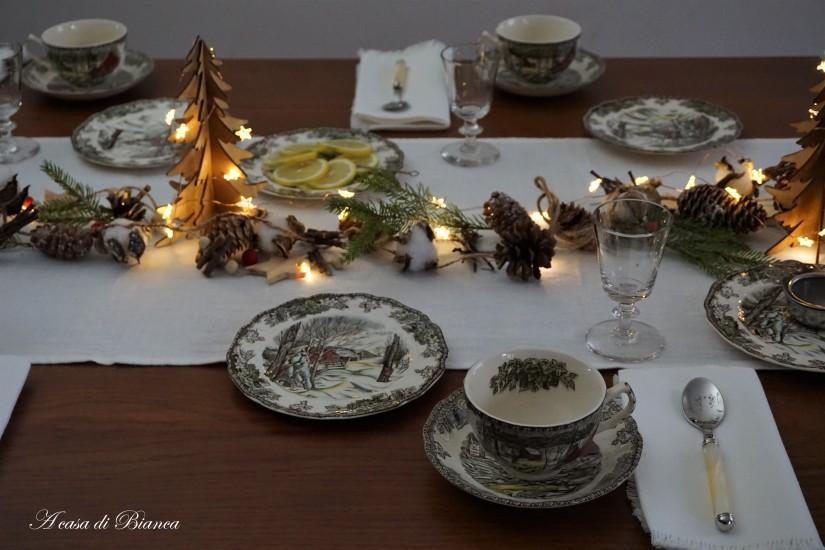 Tè d'inverno con tazze vintage a casa di Bianca