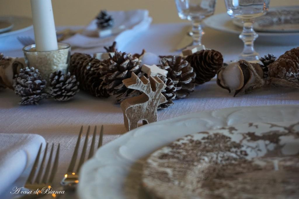 Segnaposto per tavola d'inverno a casa di Bianca