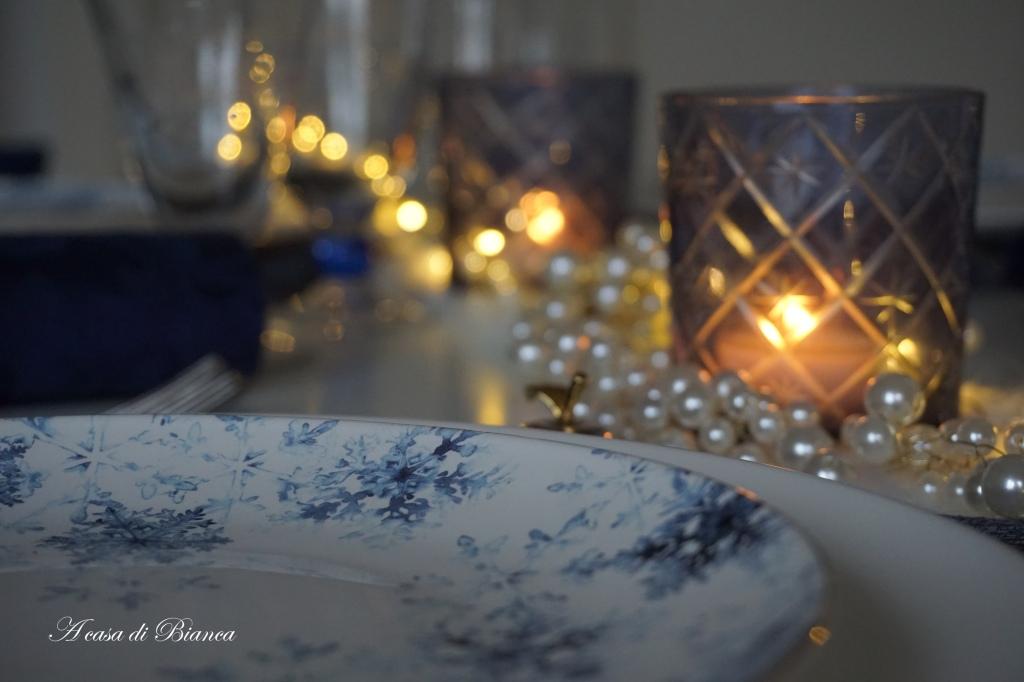 Tavola luci d'inverno a casa di Bianca