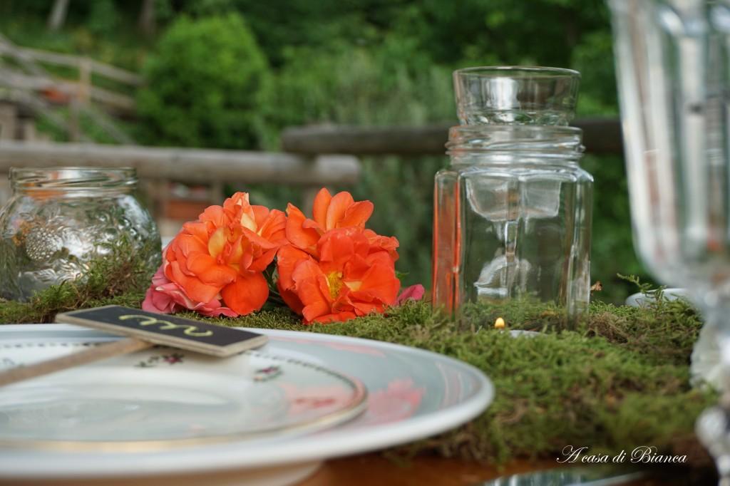 Cena in giardino a casa di Bianca