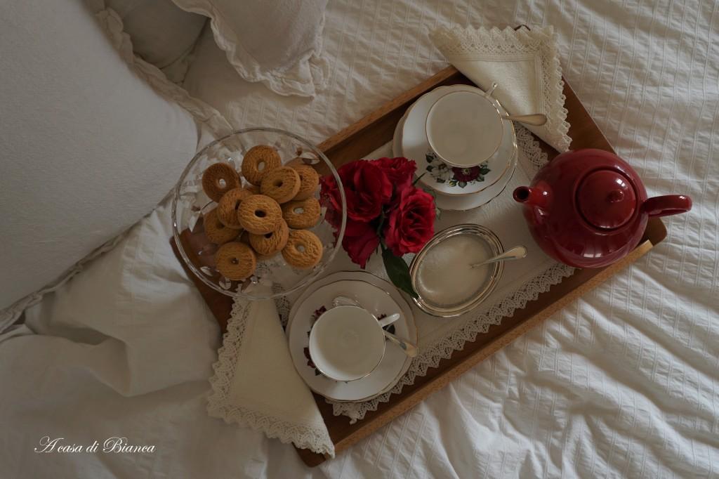 Colazione a letto di san Valentino a casa di Bianca