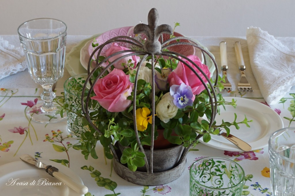Centrotavola di primavera a casa di Bianca