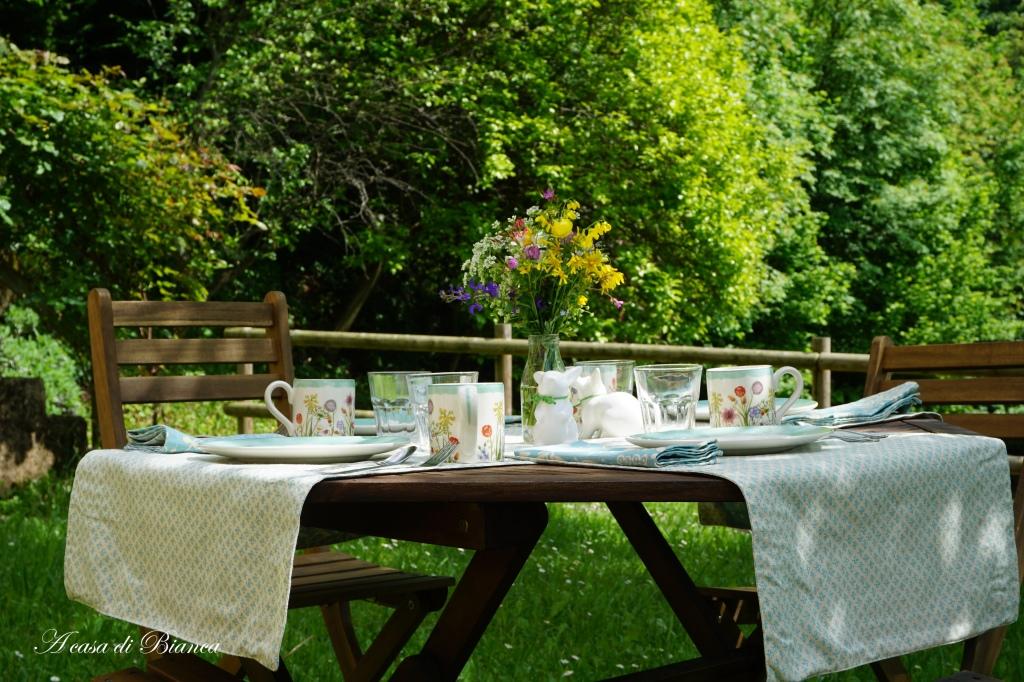 colazione in giardino a casa di Bianca