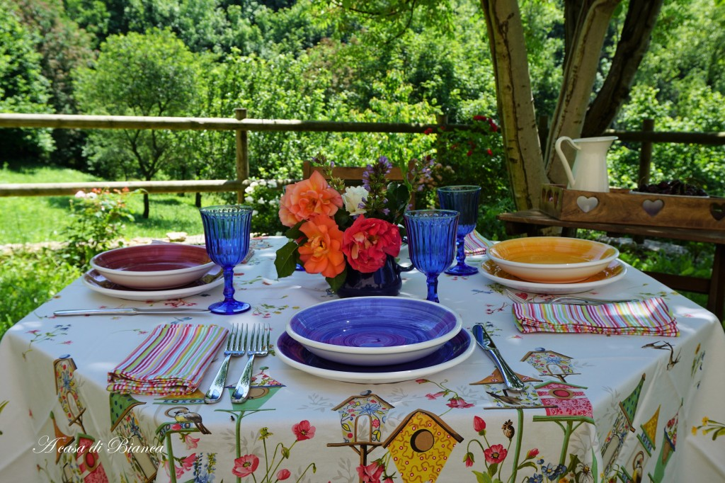 Alfresco tablescape blog hop a casa di Bianca
