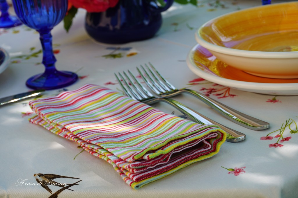 Alfresco tablescape blog hop a casa di Bianca