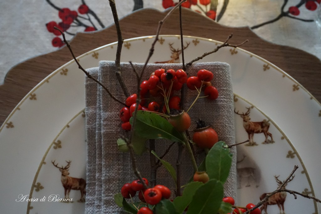 Tavola country d'autunno a casa di Bianca