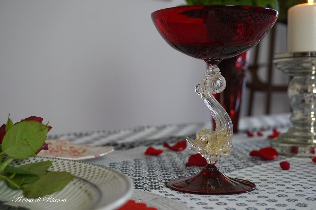 Tavola di San Valentino tango a casa di Bianca