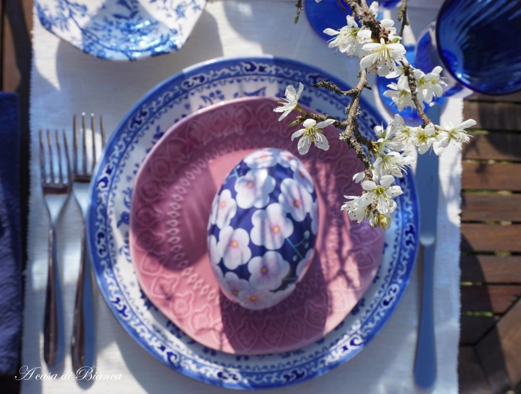 Pasqua ciliegi in fiore a casa di Bianca