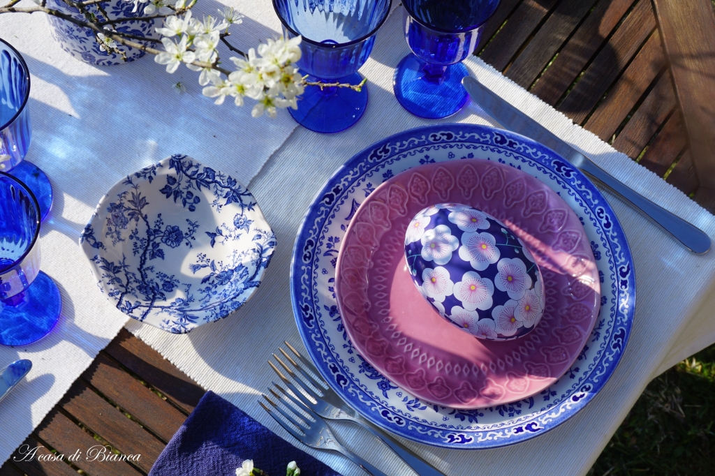 Tavola di Pasqua alfresco a casa di Bianca