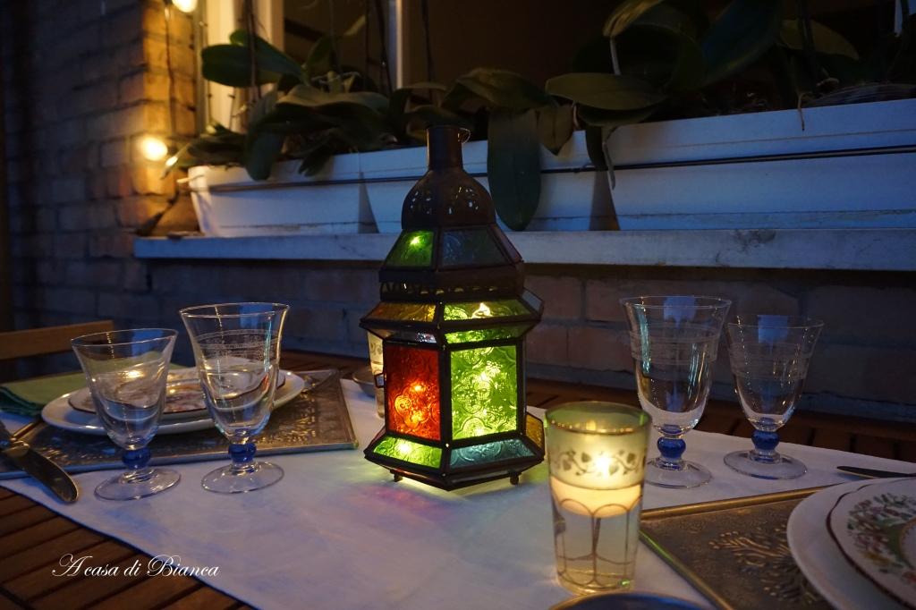 Lanterna marocchina per cena a lume di candela a casa di Bianca