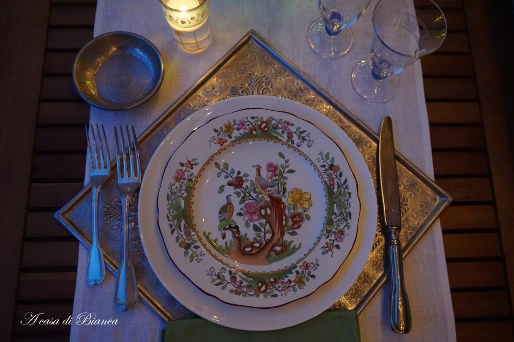 per Piatti Spode antichi per tavola orientale a casa di Bianca