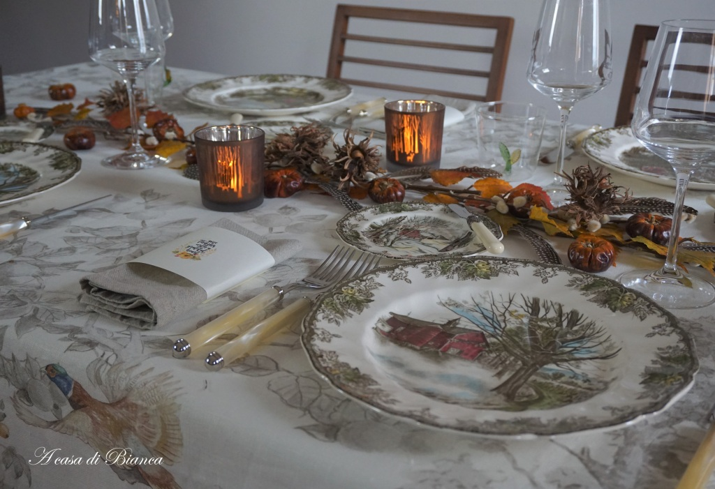 Tavola autunnale country chic