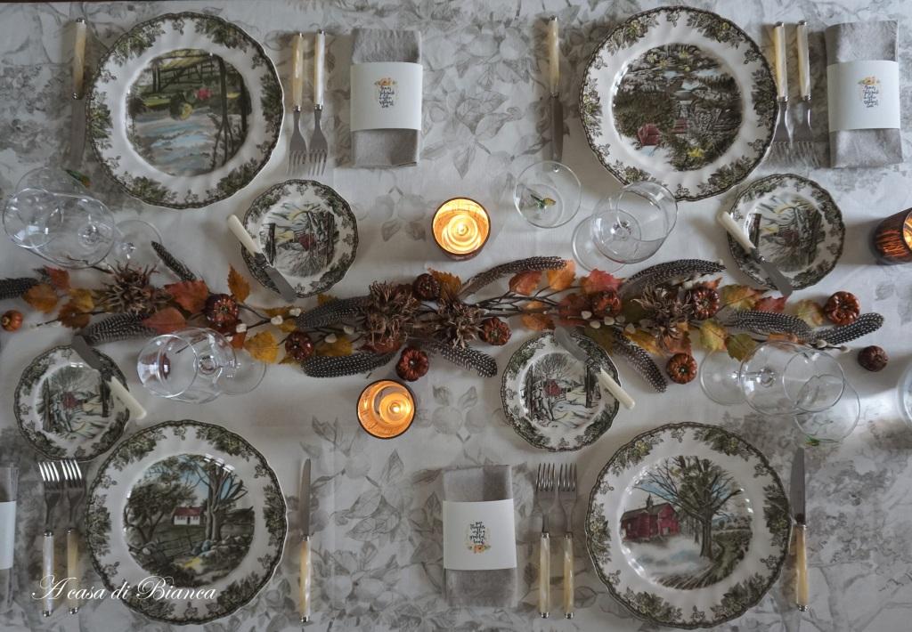 Idee per la Tavola per la festa del Ringraziamento a casa di Bianca